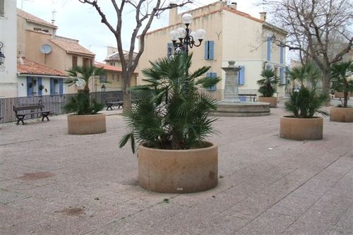 Marseille - one of the squares in the historic district