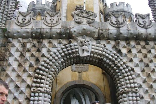 Detail of medieval entry - Pena Palace