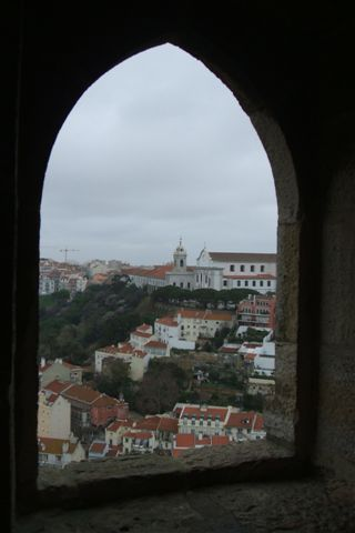 View of the city from St George castle