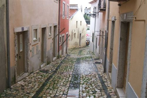 Alfama - maze of narrow streets and staircases