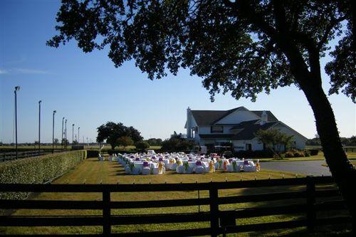 Wedding setup at Southfork Ranch